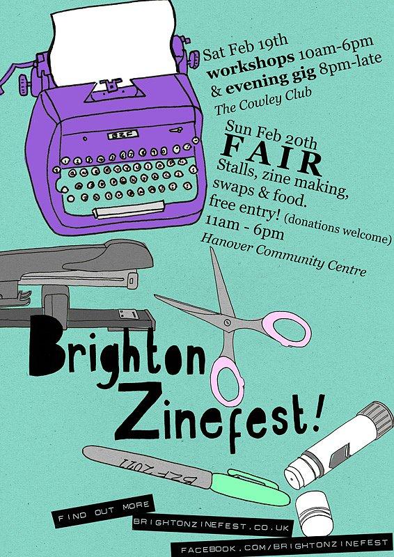 Brighton Zinefest poster