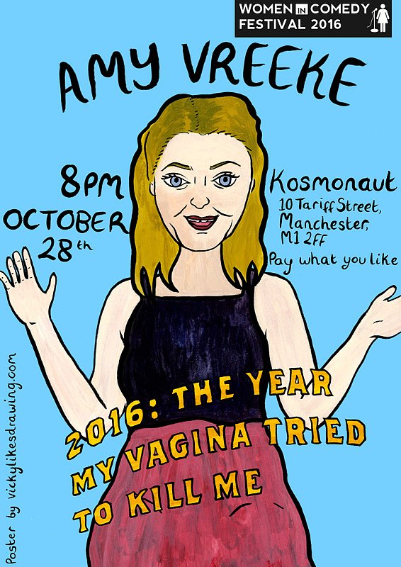 Stand-up poster for Amy Vreeke