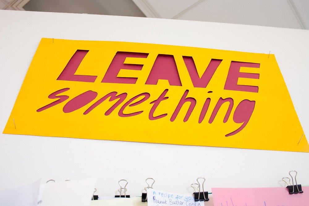 leave something / Brighton