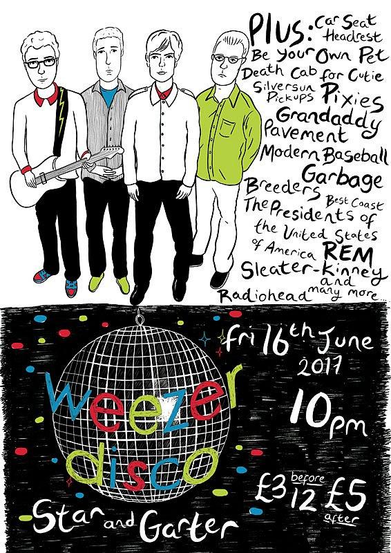 Weezer Disco poster